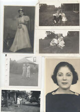 SET OF 20 VINTAGE PORTRAITS OF WOMEN IN VARIOUS PLACES W/ CHILDREN   MORE
