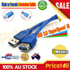 3M USB 2.0 / 3.0 High Speed Extension Extend Cable Male to Female M-F SuperSpeed