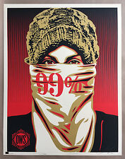 Shepard Fairey Occupy Protester 99% Variant Signed Art Print Faile Obey Giant