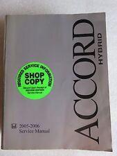 2005-2006 Honda Accord Hybrid Factory Service Repair Manual Dealership Shop