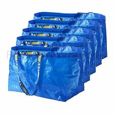 5 x IKEA FRAKTA Large Blue 72L Multi-Purpose Reusable Plastic Carrier Bags