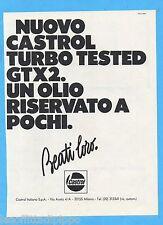 QUATTROR981-PUBBLICITA'/ADVERTISING-1981- CASTROL - OLIO GTX2