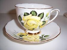 Colclough Teacup Cup & Saucer Set Yellow Roses