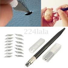 Wood Carving Pen Paper Cutter Sculpting Cutting Tool Hand Craft Knife +15 Blade