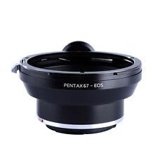 NEW Pentax 67 Mount Lens to Canon EOS EF Adapter 550D 5D II III 60D 7D 650D 700D