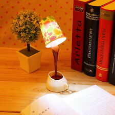 Novelty DIY Table LED Lamp Home Romantic Pour Coffee Usb Battery Night Light FT