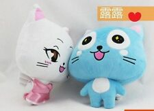 "2pcs Anime Fairy Tail Blue Happy Carla Plush Doll Baby Toys 11""/30cm Xmas Gift"