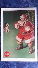"ORIGINAL Vintage Coca Cola 1961 Christmas  Ad ""Santa and the Christmas Puppy"""