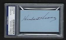 Herbert Hoover signed page PSA Authenticated 31st President of the United States
