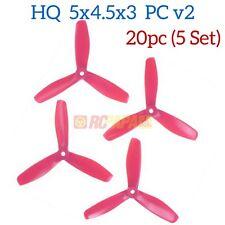 HQ HQProp 5x4.5x3 PC v2 Tri-Blade FPV QAV Quad Race Propellers Prop Pink 20pc
