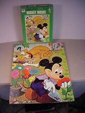 Vintage Mickey Mouse Pluto puzzle Disney toy in orig. box complete 1970's