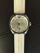 New Emporio Armani Mens Watch White Rubber Strap AR0684 $195+ SOLD OUT Rare