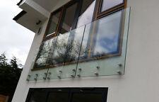 Frameless Glass Balustrade / balcony / bannister /Garden railings  - Side Fixed