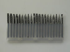 20pcs 3mm X 3mm Tungsten Carbide Cutting Rotary Burr Set CNC Engraving Bit CED