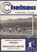 Chelsea v Newcastle Utd - Div 1 - 1969 - Football Programme