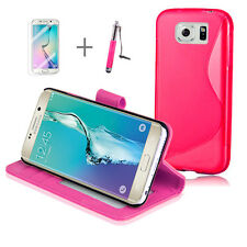 PINK Wallet 4in1 Accessory Bundle Kit S TPU Case Samsung Galaxy S6 Edge Plus +