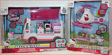 LOT 2- Hello Kitty AMBULANCE + Emergency HELICOPTER Play Set - Tons Accessories