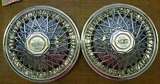"""Vintage Cragar 13"""" Star Wire Wheel Cover Caps"""