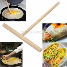 5'' Crepe Maker Pancake Batter Wooden Spreader Stick Home Kitchen Tool Kit DIY