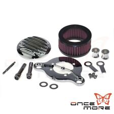 New Air Cleaner Intake Filter System Kit For Harley XL 883 1200 48 PARTS METAL