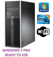 Rápido HP Elite 8100 Torre Computadora Barata i5 3.20GHz 250GB 4GB Pc Wifi Win 7 Pro