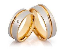 2 Fedi Nuziali Fedi matrimoniali Anello di fidanzamento con diamante
