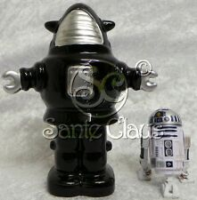 FORBIDDEN PLANET : ROBBY THE ROBOT BLACK & SILVER MONEY BANK MADE OF CHINA
