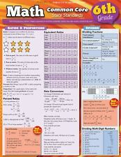 Math Common Core 6Th Grade by Inc. BarCharts (2012, Book, Other)