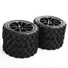 4Pcs Rubber Tires PP0487+C12NK Wheel Rim For RC 1/10 Rally Racing Off Road Car