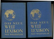 Das Neue Beckmanns Neues Welt-Lexikon 1940  mit Welt-Atlas A-Z Weltlexikon