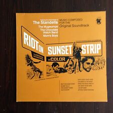 Riot on sunset strip OST Soundtrack LP FREAKBEAT PSYCH GARAGE MOD Standells