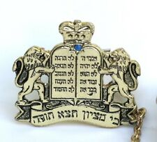 Tallit Clips w/Torah Crown 10 Commandments Kosher Prayer Shawl Tallis Synagogue
