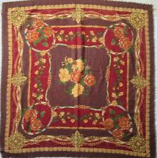 TORRENTE   Superbe Châle laine et soie  TBEG vintage Scarf 110 cm / 110 cm