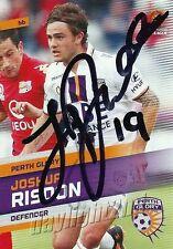 Signed 2013 2014 PERTH GLORY A-League Card JOSHUA RISDON