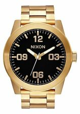 BRAND NEW NIXON CORPORAL SS Men's Watch 48mm   SS ALL GOLD / BLACK   A346 510