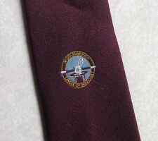 MIDDLESBROUGH CIRCLE OF MAGICIANS TIE VINTAGE RETRO BURGUNDY 1980s 1990s MAGIC