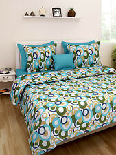 Homefabs 100% Cotton Double Bed Sheet with 2 Pillow Covers (DBS131)