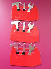 BULK WHOLESALE 25 RED TOOL BOX DIY NEW HOME CARD MAKING CRAFT EMBELLISHMENTS