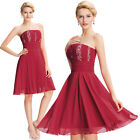 Ladies Chiffon Evening Formal Party Cocktail WEDDING Bridesmaid Prom Gown Dress