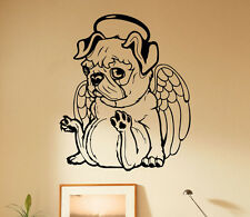 Pug Dog Wall Decal Bulldog Vinyl Sticker Cute Animals Unique Art Decor 55(nse)