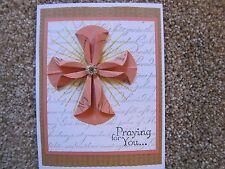Elegant Praying For You/Easter Blessings Cross/Sympathy Handmade Card Kit Lot 4