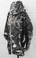 New Neff Mens Marbled Performance Fleece Full Zip Hoodie Medium Black
