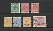 1938/1950 King George VI SG68a - SG89 Short Set Mint Hingd & Used ST KITTS NEVIS