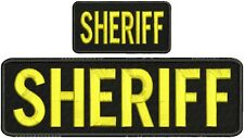 Sheriff embroidery Patch4x10  and 2x5 hook on back