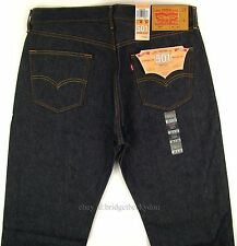 Levis Men's 501 Original SHRINK TO FIT Jeans RIGID INDIGO 36 X 34 Levi's STF