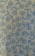 China Blue/ White floral dress soft  cotton poplin fabric sold by the metre