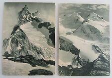 Schweiz Alpen Berge Zindel-Rothorn bei Zermatt, Pollux Wallis, 2x AK der DDR