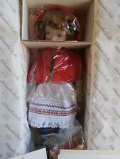 "14"" Little Red Riding Hood Doll NRFB, COA, Knowles China Company Mint Condition!"