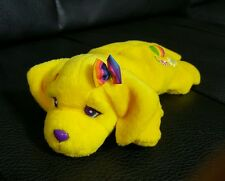 "Vintage 1998 Lisa Frank Candy 8"" Plush Bean Bag Yellow Girl Puppy Dog L2"