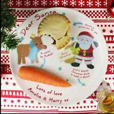 Personalised Santa Christmas pie plate for christmas EVE to leave for santa